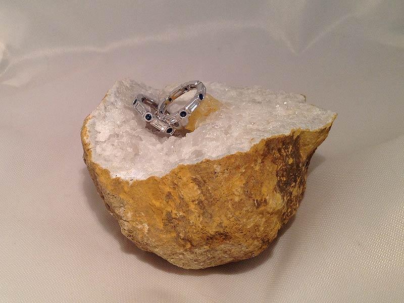 Baguette Diamond & Sapphire Eternity Bands