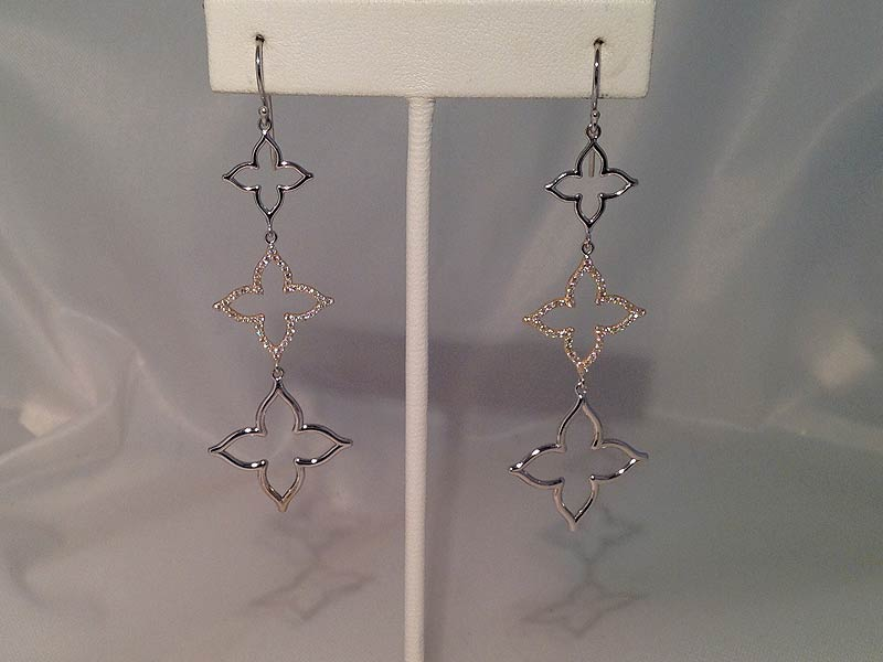 Quatrefoil Diamond Earrings