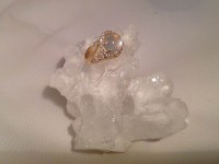 Moonstone & Diamond Ring
