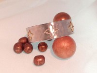 Sterling Silver, Diamond & Gold Quatrefoil Cuff