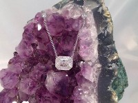 Radiant Cut Diamond Pendant