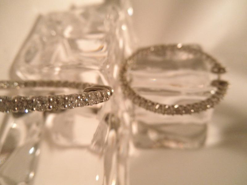 Diamond 'In & Out' Hoop Earrings