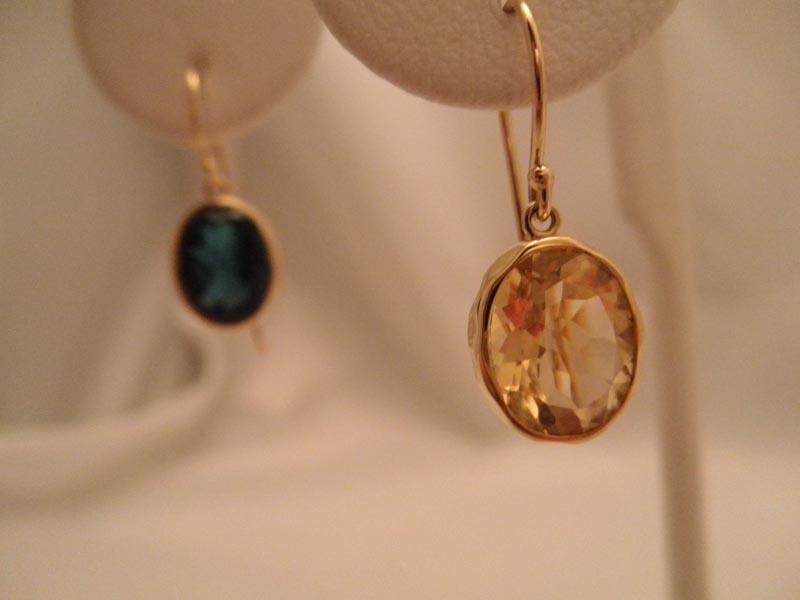 London Blue Topaz & Citrine Earrings