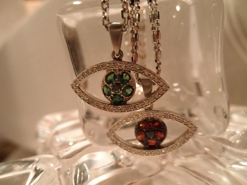 'Evil Eye' Gemstone & Diamond Pendants