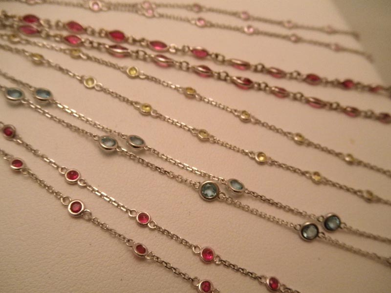 Colored Gemstone 'By The Yard' Chains
