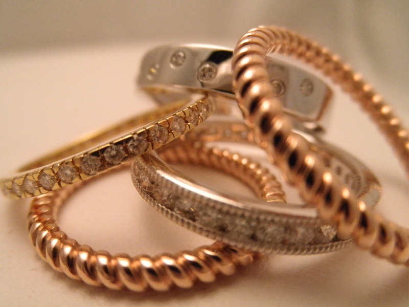 Diamond & Gold Bands