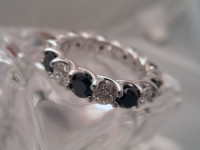 Black & White Diamond Eternity Band