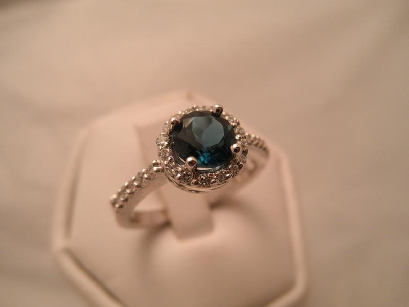 London Blue Topaz & Diamond Ring